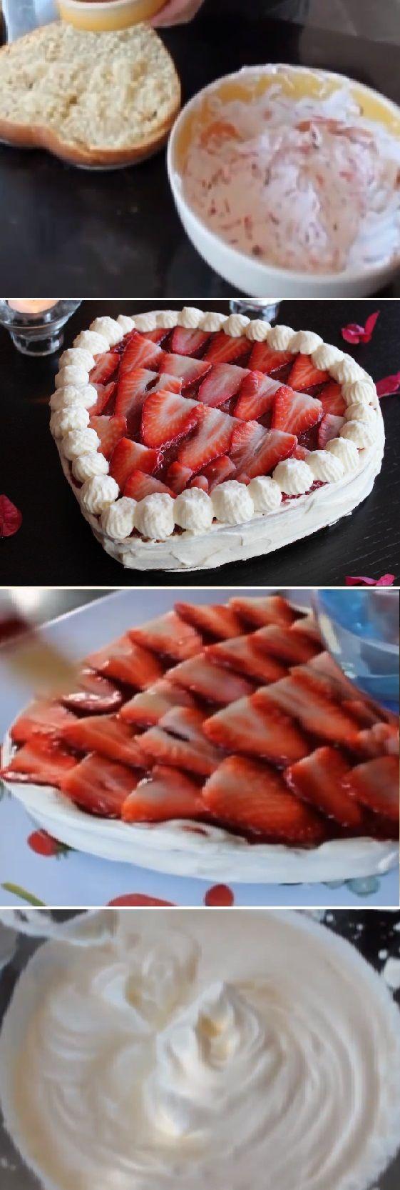 Tarta corazón de San Valentín con nata y fresas ¨Recetas románticas¨ #sanvalentin #valentinesday #valentine #love #azúcar #tips #cupcakes #cakes #dulces #receta #recipe #casero #torta #tartas #pastel #nestlecocina #bizcocho #bizcochuelo #tasty #cocina #chocolate #pan #panes Si te gusta dinos HOLA y dale a Me Gusta MIREN …