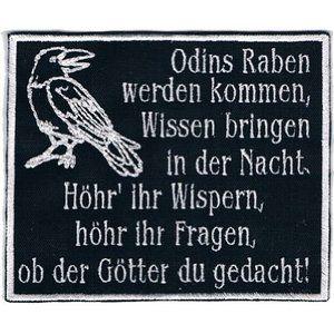 Aufnäher Odins Raben werden kommen Patch 12 x 10cm
