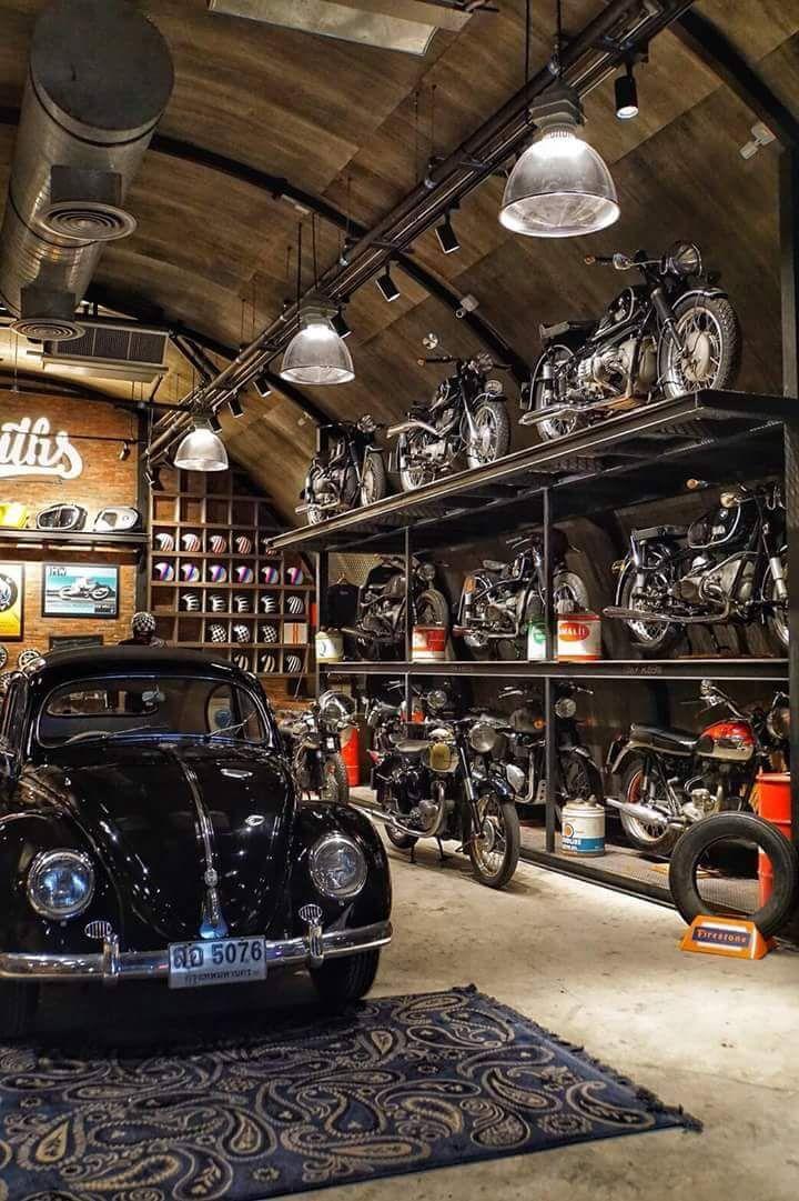 Pin By Tpshee On Porsche 356 Motorcycle Storage Garage