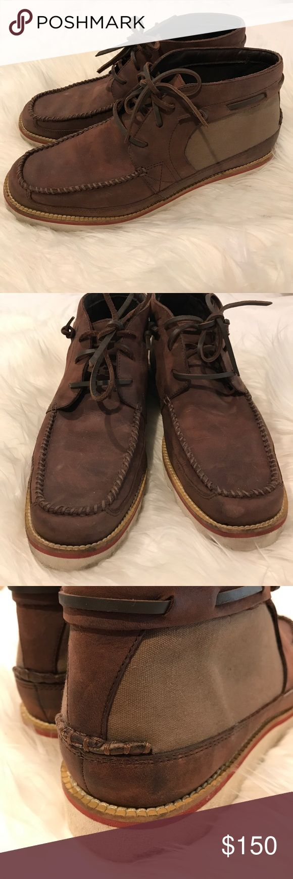 Men's Cole Haan Nike Collab Chukka Brown Boot 10 Only worn 1x! White sole has some dark marks and I will clean prior to shipping :) no box, all leather chukka style lace-up boot from Cole Haans collaboration with Nike = super comfortable! Retails $250+! Make an offer, fast shipping! Cole Haan Shoes Chukka Boots