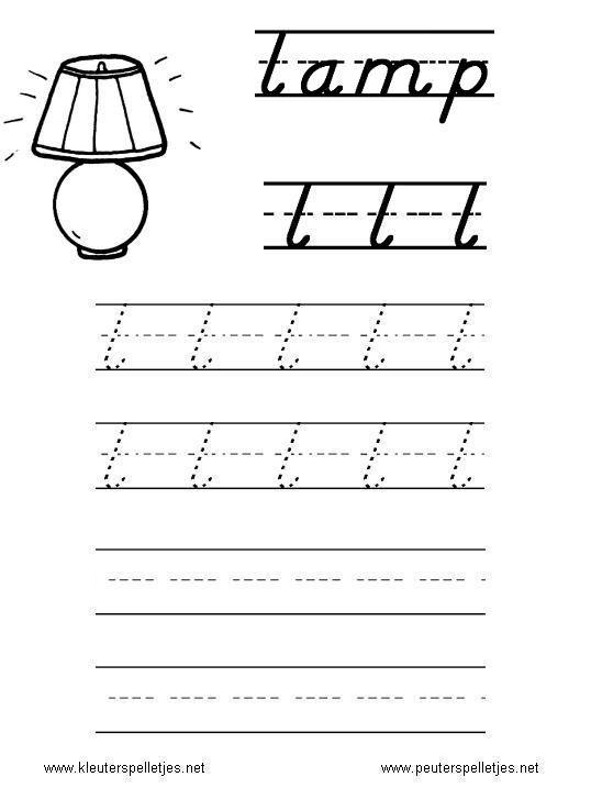 LETTER L | letters leren herkennen en schrijven, alfabet printbladen a t/m z