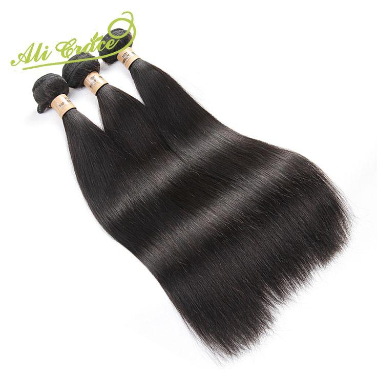 Ali Grace 8A Malaysian Virgin Hair Straight 3 Bundles Malaysian Straight Virgin Hair Unprocessed Malaysian Straight Human Hair