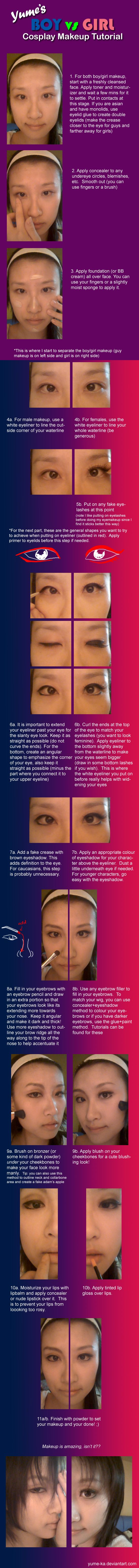 Boy vs Girl Cosplay Makeup Tutorial by Yume-ka on DeviantArt