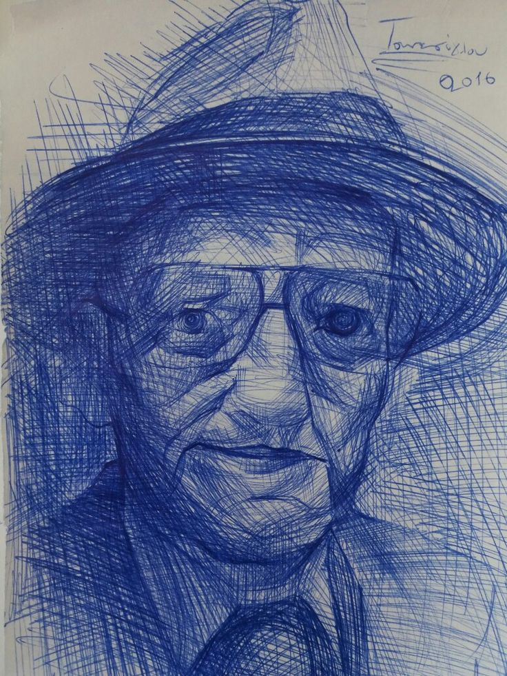 William burroughs,pen on paper,fast sketch