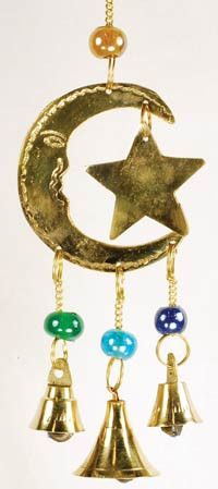 Bell Star and Moon wind chime