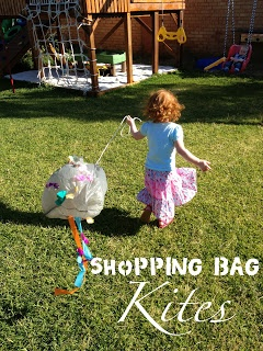 Playing and Learning Begins at Home: Shopping Bag Kites
