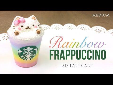 Rainbow Starbucks Latte Art! - Cute Frappuccino DIY (Collab with PinkSugarCotton) - YouTube