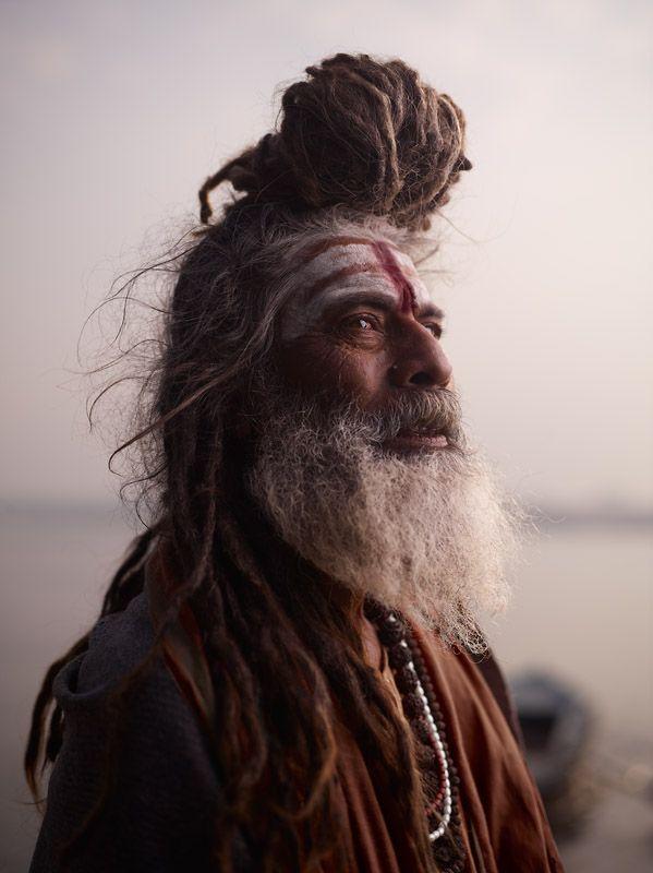 Holy Men of Varanasi, India. Portrait of Baba Nondo Somendrah Photo by: Joey L via Neil.