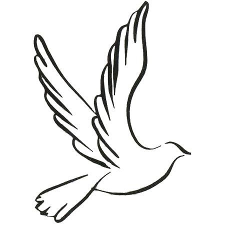 white ink dove tattoo