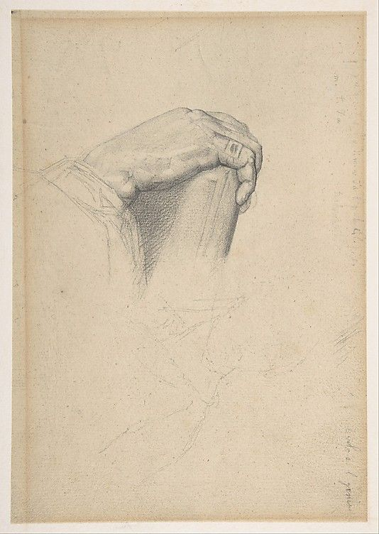 The Hand of Poussin, after Ingres  Georges Seurat 1875-77  (French, Paris 1859–1891 Paris)