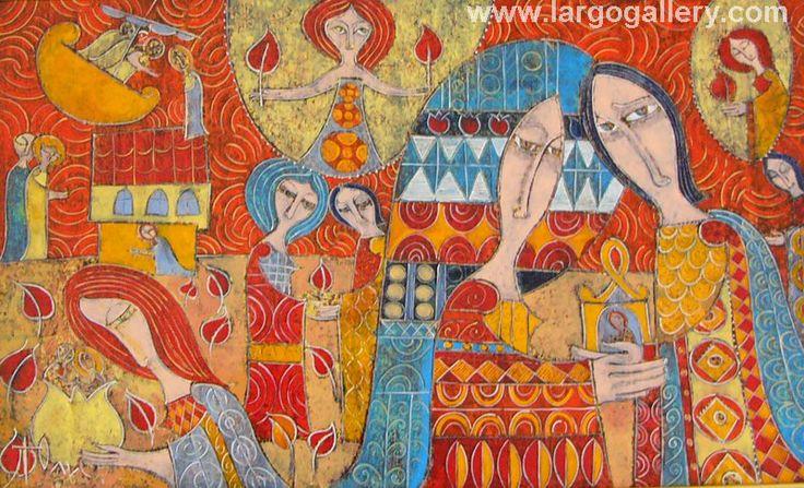 """Yuli Shumarev, """"A promise"""", oil, canvas, 33/55 http://www.largogallery.com/"""