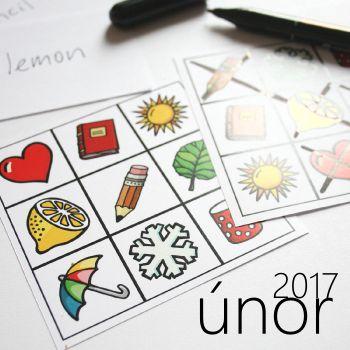 obrázkové bingo - hrací karty
