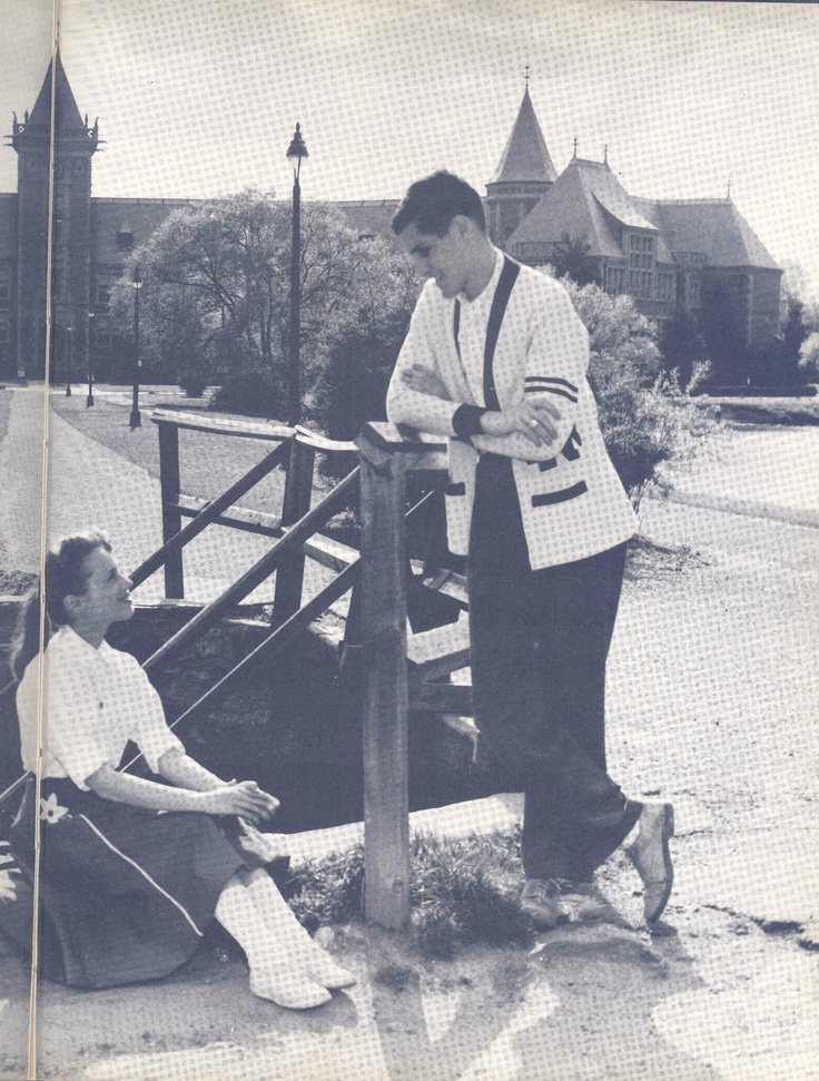 From the 1957 New Rochelle High School yearbook: This girl and boy, posed by