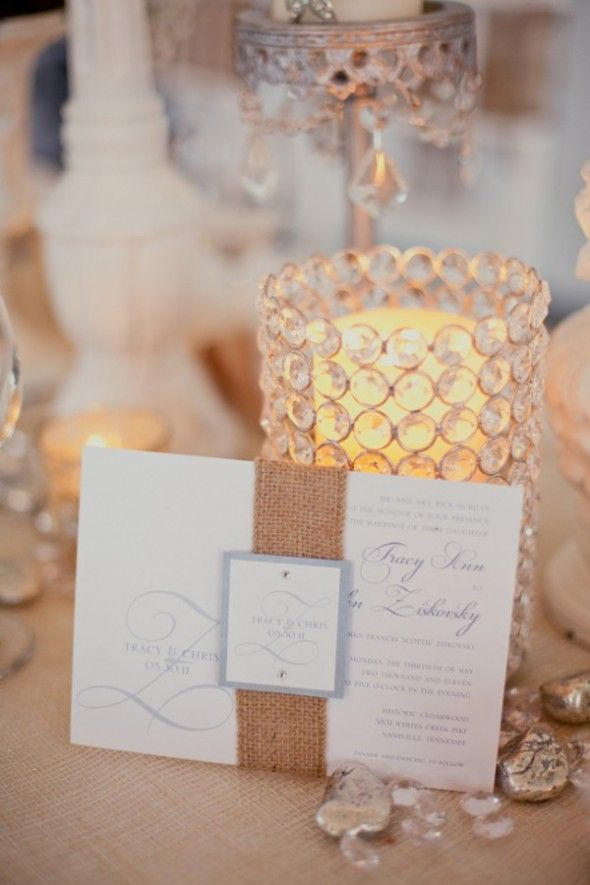 Country / Rustic Chic Wedding: Burlap Wedding Invitations #burlapweddings