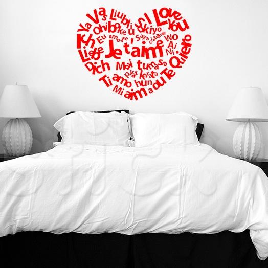 Wall Sticker I LOVE YOU by Sticky!!!