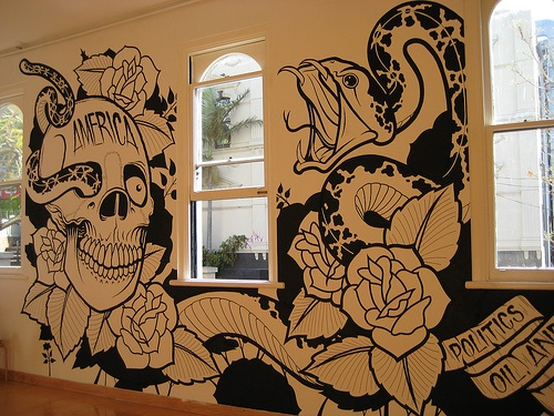 Amazing Tattoo Style Wall Sticker Wallz Pinterest Wall Sticker Walls And Room: painting graffiti on bedroom walls