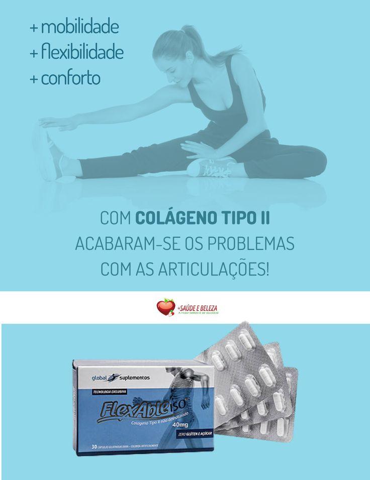 🚩 Colágeno Tipo 2 com um Preço Inacreditável! http://www.maissaudeebeleza.com.br/p/886/flexable-iso---colageno-tipo-ii-desnaturado?utm_source=pinterest&utm_medium=link&utm_campaign=Colageno&utm_content=post  Apenas R$ 49,30! 🏷️  😉 Você também pode comprar no WhatsApp (41) 8868-4301 | (41) 3022-7393 Seg. à Sex. das 8h às 18h | Sábados das 8h às 12h.