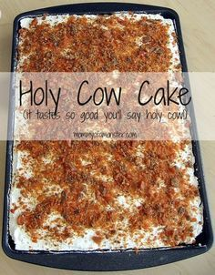 """You can never have too many easy cake mix recipes, and this Holy Cow Cake is one you'll want to make for every occasion. It's so good, it will make you say, """"holy cow!"""""""
