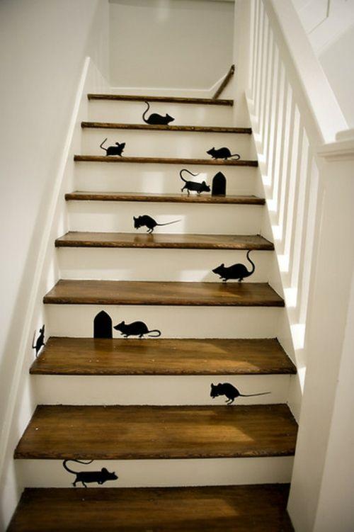 Kreative lustige Wanddekoration - Eine Maus im Haus!  - #Wanddekoration