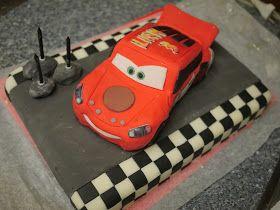 The Mucky MacBook: Lightning McQueen Cake How-to... Part 2: Lightning McQueen!