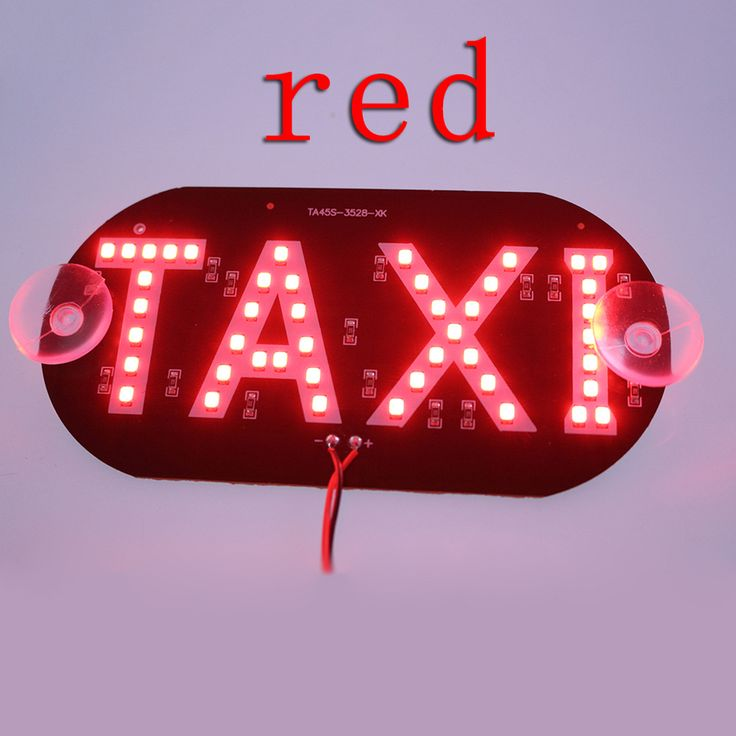 1pcs/lot Taxi Led Car Windscreen Cab indicator Lamp Sign Blue LED Windshield Taxi Light Lamp 12V BA * Click the VISIT button to enter the website
