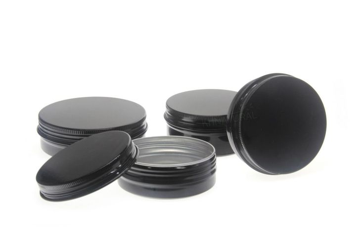 Tin and Metal Pieces 117400: Empty Aluminium Cosmetic Pot Jar Tin Container Black Sample Lined Epe Insert -> BUY IT NOW ONLY: $78 on eBay!