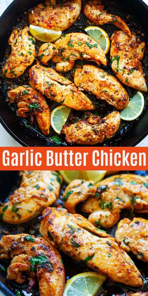 Garlic Butter Chicken Tenders Chicken Tenderloin Recipes Chicken Tender Recipes Easy Chicken Recipes