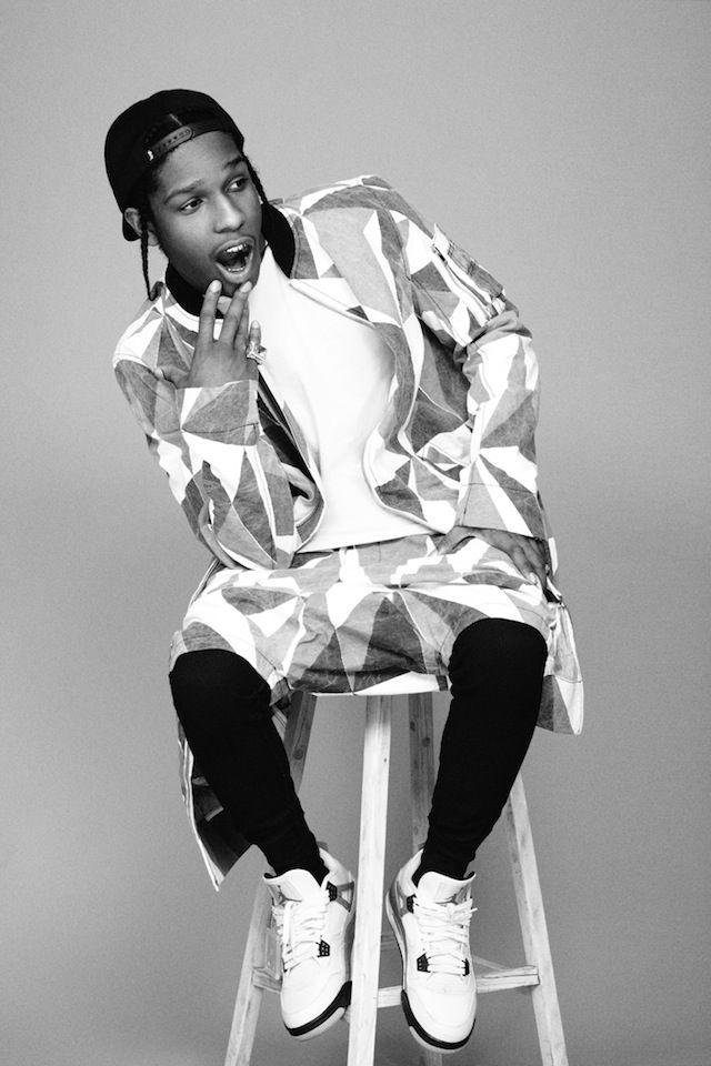A$AP Rocky wearing Air Jordan IV