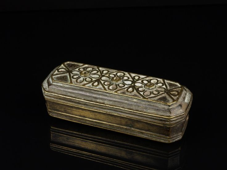 An Early 19th C. Brass Betel (sirih) Lime Box, From Brunei. | 488122 | www.wjmantiques.com
