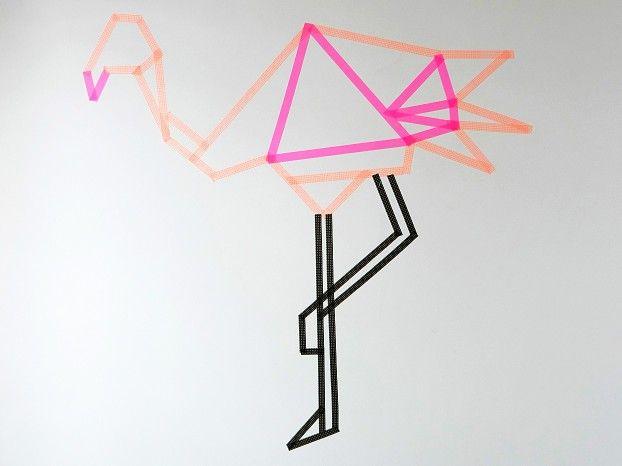 Flamingo masking-tape