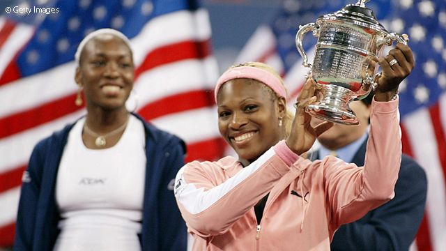 2002 US Open: Turning heads with her Catwoman-like outfit, Serena won a third straight Grand Slam title.
