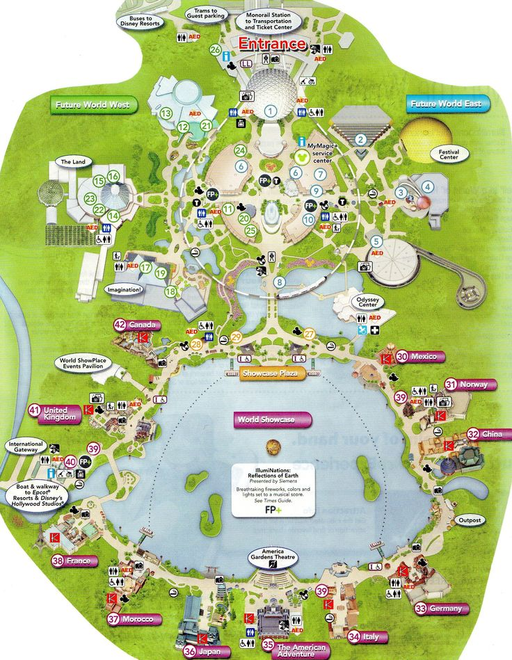 It's just an image of Unusual Printable Epcot Map