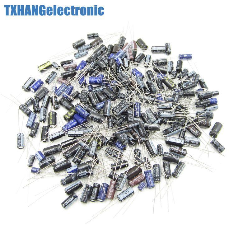 Electrolytic Capacitors Assortment, 0.1uF-220uF, 210Pcs