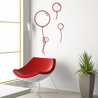 Dekorjinal  Çubuk Adam Balonlar Duvar Sticker - DKS14