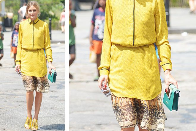 Olivia Palermo e il suo outfit color senape