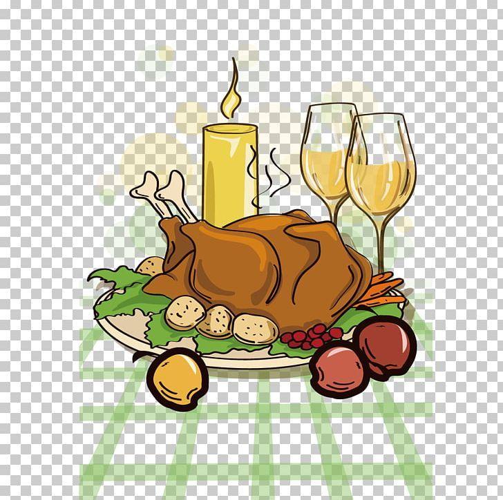 Turkey Meat Thanksgiving Dinner Cartoon Png Candle Candlelight Candlelight Dinner Chicken Chicken Vector Turkey Meat Cartoons Png Chicken Vector
