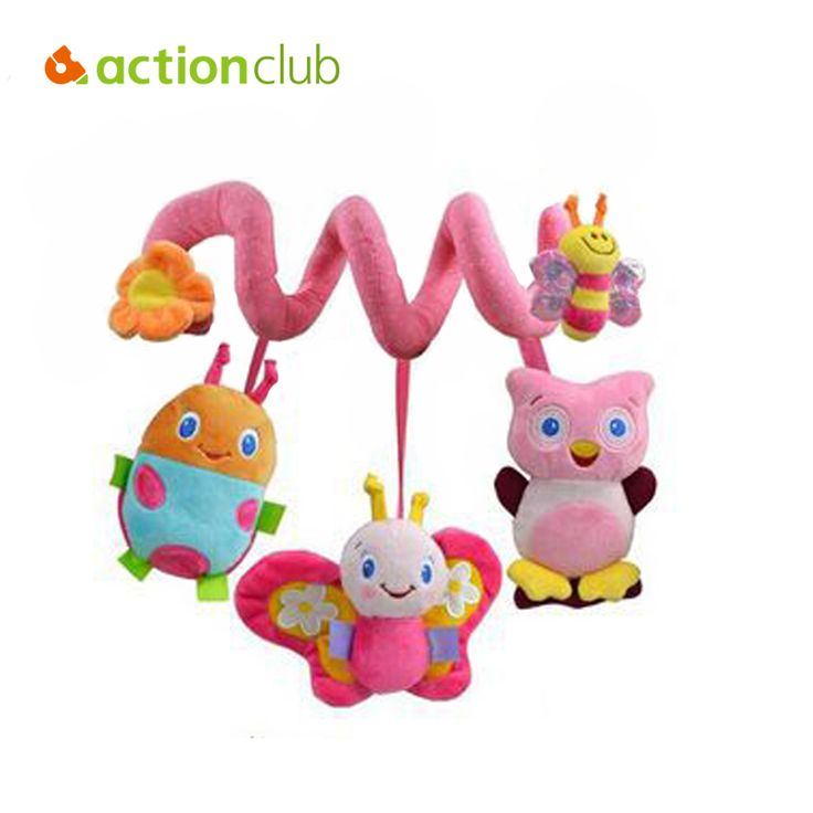 2015 new infant Toys Baby crib revolves around the bed stroller playing toy car lathe hanging baby rattles Mobile 0-12 months