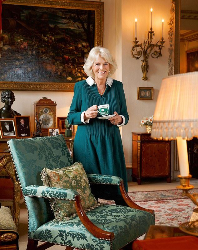 The Duchess of Cornwall at Clarence House in an exclusive portrait for You magazine by Royal photographer Hugo Burnand