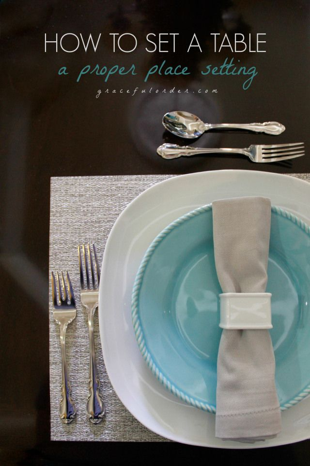 How to Set a Proper Table Setting - Always important to know!