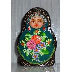 Powder box - Green doll #babushka #russiandoll #matryoshka #dollsindolls  #handmade #miniature #boxes