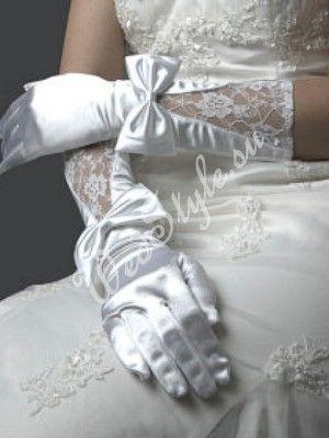 Свадебные перчатки для невесты MIT024 - черный цвет
