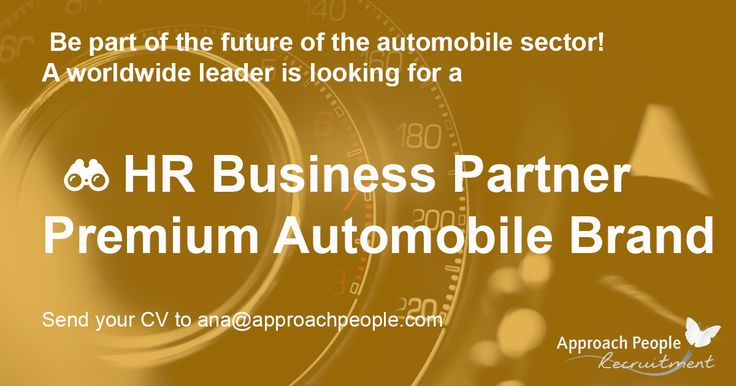This is the opportunity for automobile and technology lovers! We are looking for a HR Business Partner for a worldwide and very innovative company. Send us your CV now: http://www.approachpeople.com/international/job-description/?id_job=14454  #jobs #spain #cars