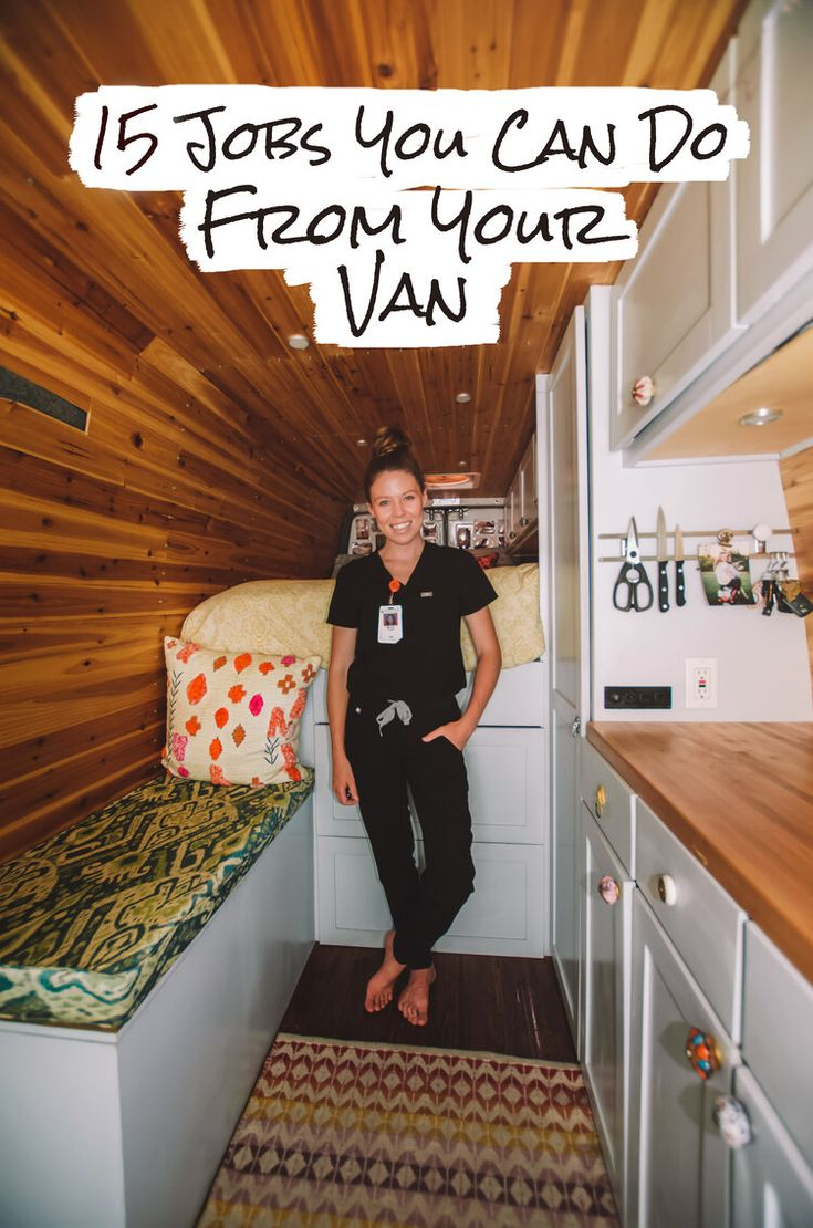 Ever wanted to move into a van and hit the road but wondered how you would support yourself? Read on for a carefully curated list of fifteen jobs you can do from your van/the road! #vanlife #vanlifediaries #vanlifeideas #vanlifemovement #nomadlife
