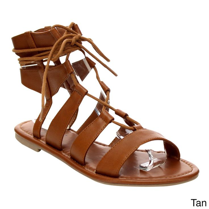 Liven up your look with these Beston Lace-up Gladiator Flat Sandals. These gladiator flat sandals rise up to about the ankle and lace up design with a strappy cage.Keep your feet comfortable all day i