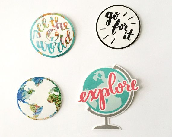 Stickers Laptop Stickers Travel Stickers Planner by GladjeDesigns