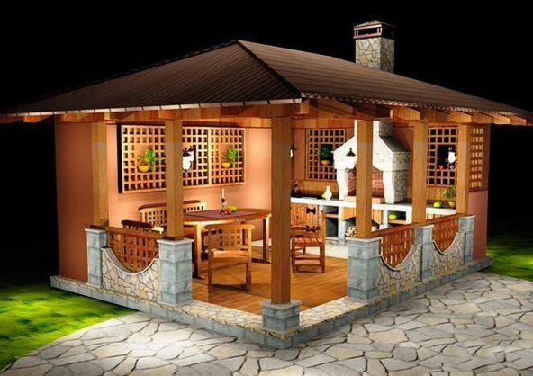 a small-house for the garden, gazebo ideas.