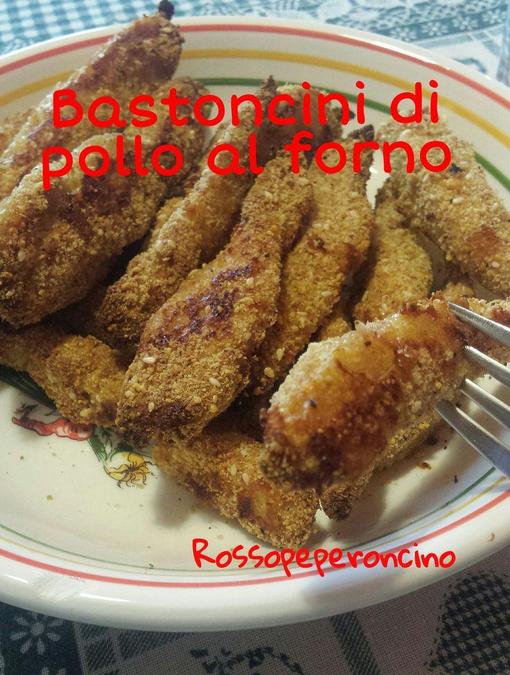 Bastoncini di Pollo al Forno - Rosso Peperoncino