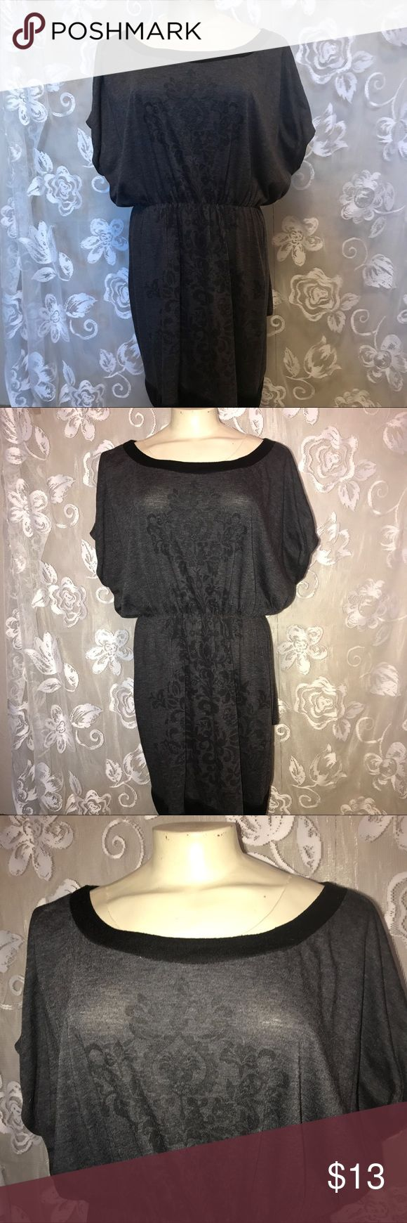 Dark Gray Batwing Dolman T Shirt Dress Plus Size Cute dark gray dormant that wing dress plus size 1X.   ~ Bundle up & save on shipping! Check out my other listings! ~ I am open to reasonable offers. ~I do my best to describe each item thoroughly. ~I ship same day or next day. ~ I do not hold items. ~Not responsible for incorrect sizing. I go by what the tag says its up to the buyer to know their size. delirious Dresses Midi