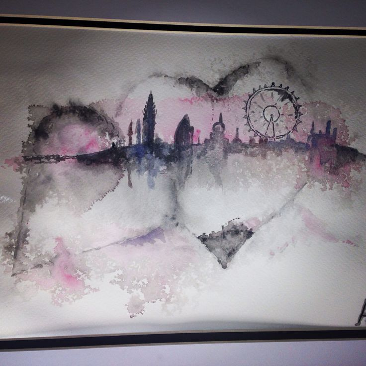 For the love of London- commissioned watercolour