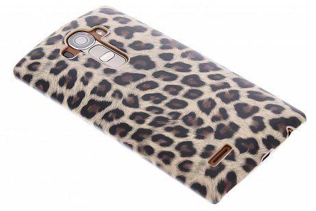 LG G4 hoesje - Bruin luipaard hardcase hoesje